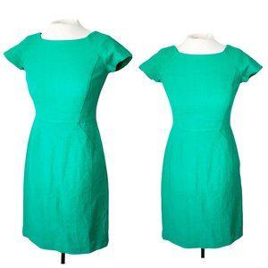 NEW! J. CREW Green Cotton Tweed Sheath Dress